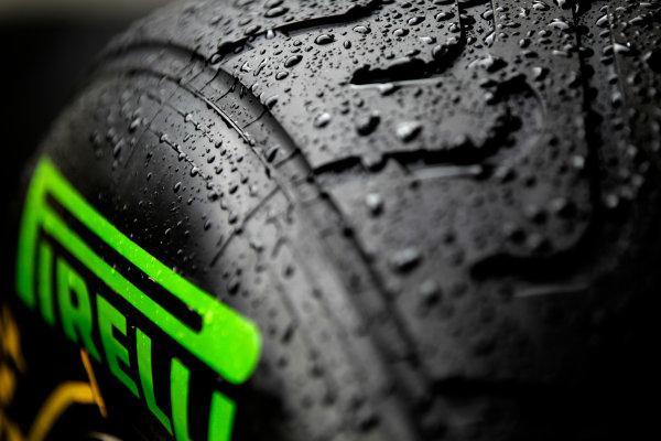 Interlagos, Sao Paulo, Brazil. Friday 22nd November 2013.  Pirelli intermediate tyres. World Copyright: Andy Hone/LAT Photographic. ref: Digital Image _ONY8605