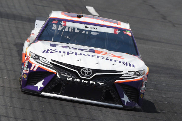 Denny Hamlin, Joe Gibbs Racing Toyota FedEx #SupportSmall, Copyright: Jared C. Tilton/Getty Images.