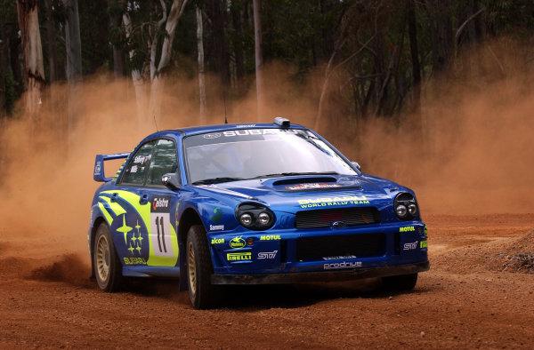 2002 World Rally Championship.Telstra Rally Australia, Perth. October 31st-November 3rd.Petter Solberg during shakedown.Photo: Ralph Hardwick/LAT