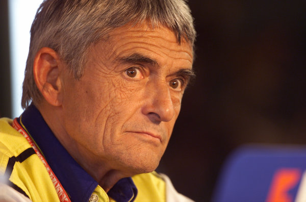 2001 French Grand PrixMagny Cours, France. 28th June 2001Michelin boss, Pierre Dupasquier, during the Thursday press conference - portrait.World Copyright: Steve Etherington/LAT Photographicref: 18mb Digital Image