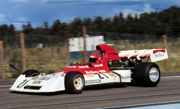 1973 Swedish Grand Prix.  Anderstorp, Sweden. 15-17 June 1973.  Niki Lauda (BRM P160E) 13th position.  Ref: 73SWE66. World Copyright - LAT Photographic