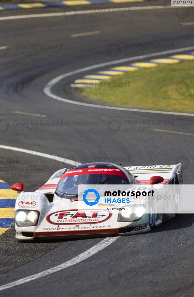 Yannick Dalmas / Hurley Haywood / Mauro Baldi, Le Mans Porsche Team, Dauer Porsche 962 GT LM.