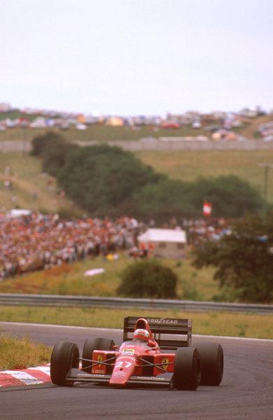 Hungaroring, Hungary. 11-13 August 1989. Nigel Mansell (Ferrari 640) 1st position. Ref-89 HUN 05. World Copyright - LAT Photographic
