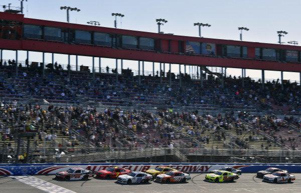 #20: Christopher Bell, Joe Gibbs Racing, Toyota Supra Rheem and #00: Cole Custer, Stewart-Haas Racing, Ford Mustang Thompson Pipe/Haas CNC