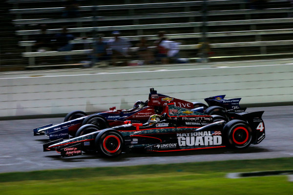 7-8 June, 2013, Fort Worth, Texas USA Oriol Servia and Marco Andretti ©2013, Lesley Ann Miller LAT Photo USA