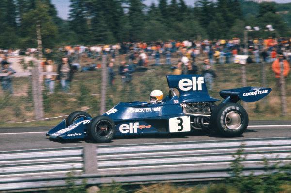 1974 Swedish Grand Prix  Anderstorp, Sweden. 7-9 June 1974.  Jody Scheckter, Tyrrell 007 Ford, 1st position.  Ref: 74SWE12. World Copyright: LAT Photographic