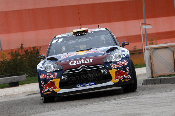 Thierry Neuville (BEL) and Nicolas Gilsoul (BEL), Citroen DS3 WRC on the shakedown stage. FIA World Rally Championship, Rd11, Rallye De France, Strasbourg, Alsace, France, Shakedown, Thursday 4 October 2012.
