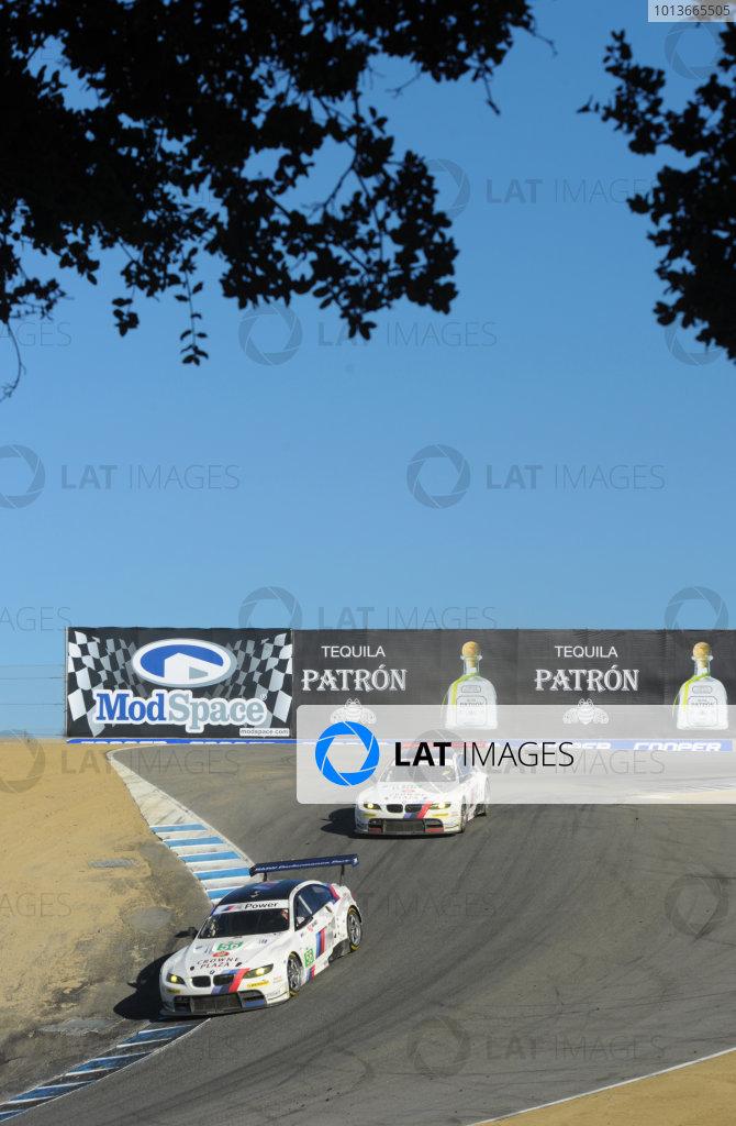 16-18 September, 2011, Monterey, California USA#56 and #55 BMW Team RLL BMW E92 M3(c)2011,  Dan R. Boyd  LAT Photo USA