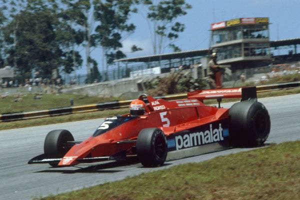 Interlagos, Sao Paulo, Brazil. 2-4 February 1979. Niki Lauda, Brabham BT48 Alfa Romeo, retired. Ref: 79BRA22. World Copyright: LAT Photographic.