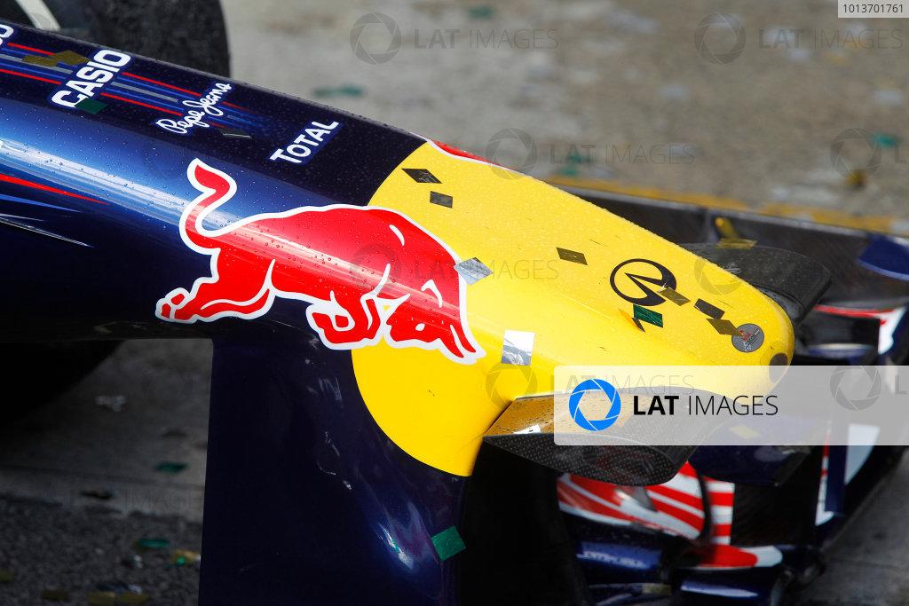 Interlagos, Sao Paulo, Brazil.27th November 2011.The winning Red Bull Racing RB7 Renault of Mark Webber.World Copyright:Andrew Ferraro/LAT Photographicref: Digital Image _Q0C6546