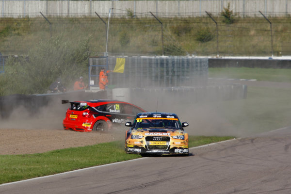 2015 British Touring Car Championship, Rockingham, Corby, England. 5th-6th September 2015, Mike Bushell (GBR) AmD Tuning Ford Focus ST World Copyright. Jakob Ebrey/LAT Photographic