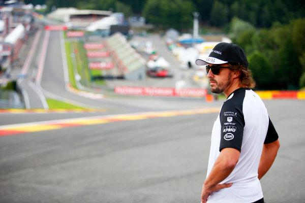 Spa-Francorchamps, Spa, Belgium. Thursday 20 August 2015. Fernando Alonso, McLaren. World Copyright: Steven Tee/LAT Photographic ref: Digital Image _L4R9278