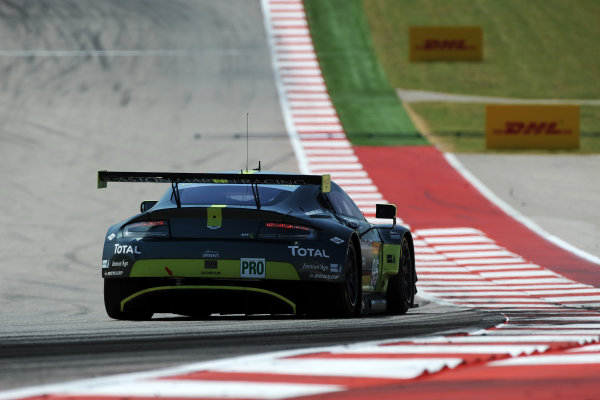 2017 FIA World Endurance Championship, COTA, Austin, Texas, USA. 14th-16th September 2017, #95 Aston Martin Racing Aston Martin Vantage: Nicki Thiim, Marco Sorensen  World Copyright. May/JEP/LAT Images