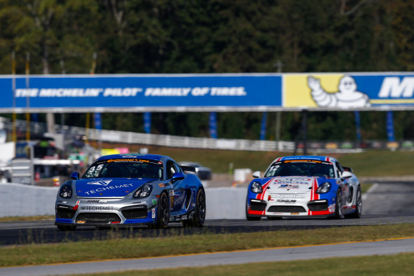 IMSA Continental Tire SportsCar Challenge Fox Factory 120 Road Atlanta, Braselton GA Thursday 5 October 2017 35, Porsche, Porsche Cayman GT4, GS, Russell Ward, Damien Faulkner World Copyright: Jake Galstad LAT Images