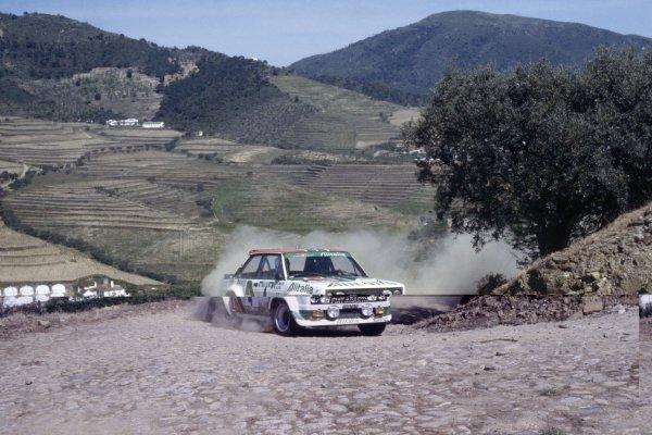 1978 World Rally Championship.Portuguese Rally, Portugal. 19-23 April 1978.Markku Alen/Ilkka Kivimaki (Fiat 131 Abarth), 1st position.World Copyright: LAT PhotographicRef: 35mm transparency 78RALLY14