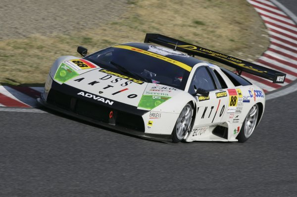 2006 Japanese Super GT ChampionshipSuzuka, Japan. 19th March 2006GT300 winner - Marco Apicella/Yasutaka Hinoi (Aktio Murcie RG-1), 1st position. Action.World Copyright: Yasushi Ishihara/LAT Photographicref: Digital Image2006SGT_R1_012 JPG(2 1MB)
