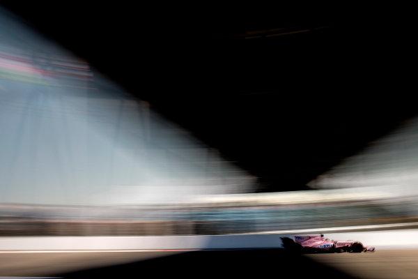 Sochi Autodrom, Sochi, Russia. Friday 28 April 2017. Sergio Perez, Force India VJM10 Mercedes.  World Copyright: Glenn Dunbar/LAT Images ref: Digital Image _31I8143