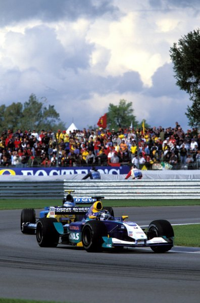 Heinz-Harald Frentzen (GER), Sauber Petronas C22, finished the race in third place.United States Grand Prix, Rd15, Indianapolis Motor Speedway, Indianapolis, USA. 28 September 2003.BEST IMAGE