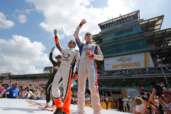 29 May, 2016, Indianapolis, Indiana USA 41 Jack Hawksworth, 4 Buddy Lazier, 35 Alex Tagliani ?2016, Perry Nelson LAT Photo USA
