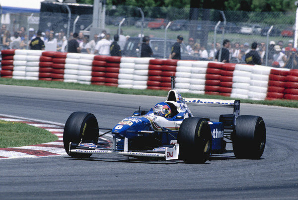 1996 Canadian Grand Prix.Montreal, Quebec, Canada. 14-16 June 1996.Jacques Villeneuve (Williams FW18 Renault) 2nd position.Ref-96 CAN 23.World Copyright - LAT Photographic