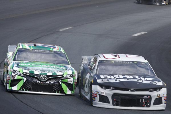 #18: Kyle Busch, Joe Gibbs Racing, Toyota Camry M&M's Interstate Batteries #3: Austin Dillon, Richard Childress Racing, Chevrolet Camaro BEHR ULTRA