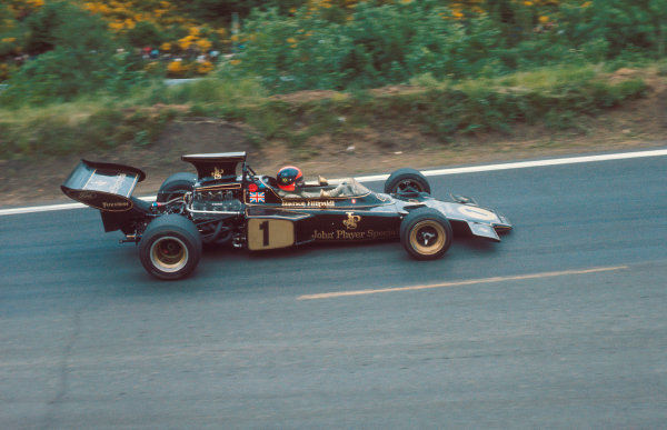 1972 French Grand Prix.Clermont-Ferrand, France.30/62/7 1972.Emerson Fittipaldi (Lotus 72D Ford) 2nd position.Ref-72 FRA 52.World Copyright - LAT Photographic