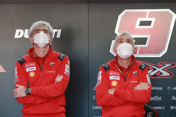 Gigi Dall'Igna, Ducati Team General Manager, Davide Tardozzi, Team manager Ducati Team.