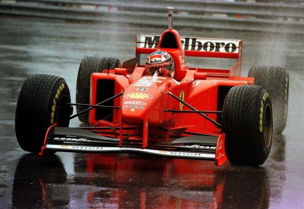 1997 Monaco Grand Prix.Monte Carlo, Monaco.8-11 May 1997.Michael Schumacher (Ferrari F310B) 1st position.World Copyright - LAT Photographic