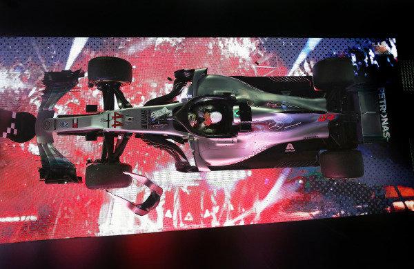 Lewis Hamilton, Mercedes AMG F1 W09 EQ Power+, 1st position, arrives beneath the podium