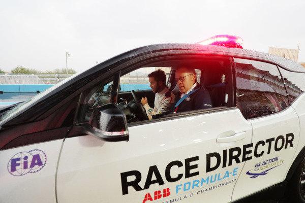 Sam Bird (GBR), Envision Virgin Racing, in the Race Director's car