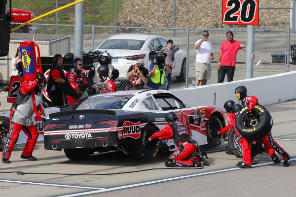 #20: Christopher Bell, Joe Gibbs Racing, Toyota Supra Ruud pit stop