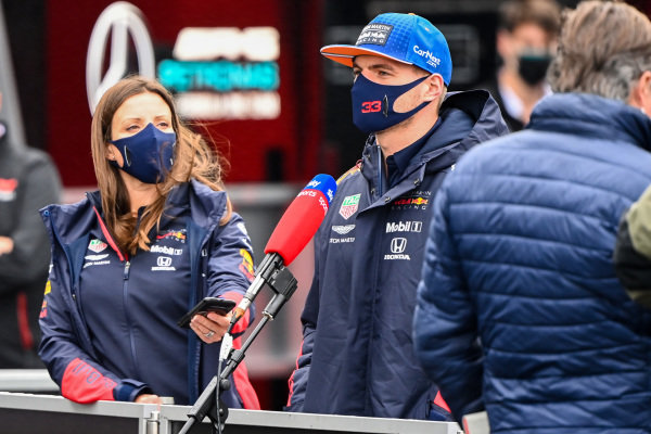 Max Verstappen, Red Bull Racing talks to the press