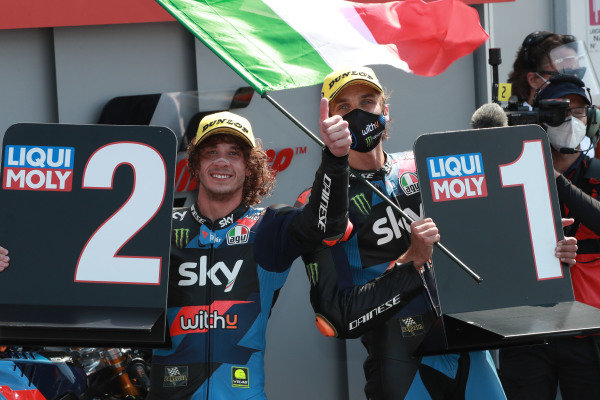 Marco Bezzecchi, Sky Racing Team VR46 , Luca Marini, Sky Racing Team VR46.