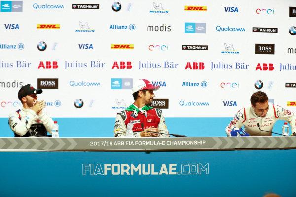 Lucas Di Grassi (BRA), Audi Sport ABT Schaeffler, Audi e-tron FE04, wins the Zurich ePrix, with Sam Bird (GBR), DS Virgin Racing, DS Virgin DSV-03, in and Jérôme d'Ambrosio (BEL), Dragon Racing, Penske EV-2, in 3rd.