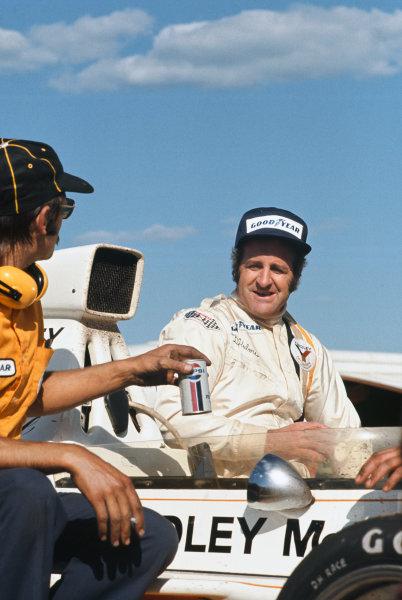 1973 Swedish Grand Prix.  Anderstorp, Sweden. 15-17th June 1973.  Denny Hulme, McLaren M23 Ford, 1st position.  Ref: 73SWE08. World Copyright: LAT Photographic