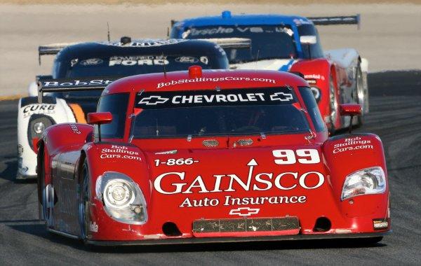 27-30 January, 2011, Daytona Beach, Florida, USAThe #99 Chevrolet Riely of ALex Gurney, Jimmie Johnson, and Jon Fogarty leads a pack of cars.©2011, R D. EthanLAT Photo USA