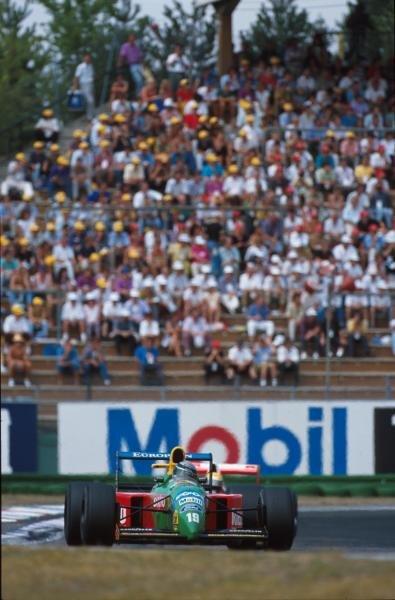 Alessandro Nannini(I), Benetton B190, 2nd place German GP, Hockenheim, Germany, 29 July 1990