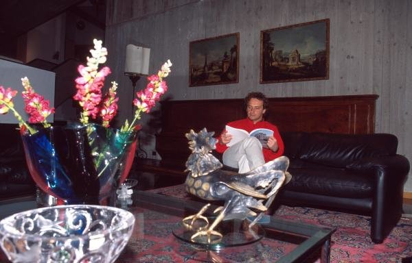 Pier Luigi Martini at home in Lavezzola, Italy.Formula One Drivers At Home