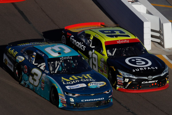 NASCAR XFINITY Series Ticket Galaxy 200 Phoenix Raceway, Avondale, AZ USA Saturday 11 November 2017 Ty Dillon, Bass Pro Shops / Tracker Boats Chevrolet Camaro, Matt Tifft, Surface Sunscreen @ Fanatics Toyota Camry World Copyright: Michael L. Levitt LAT Images
