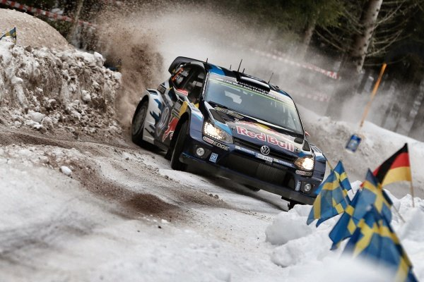 Jari-Matti Latvala (FIN) / Miikka Anttila (FIN), Volkswagen Polo R WRC at World Rally Championship, Rd2, Rally Sweden, Preparations and Shakedown, Karlstad, Sweden, 12 February 2015.