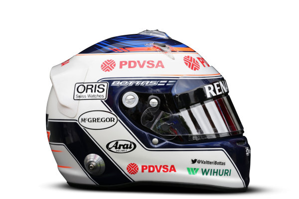 Albert Park, Melboune 14th March 2013 The helmet of Valtteri Bottas, Williams F1. World Copyright: LAT Photographic ref: Digital Image DKAL8655