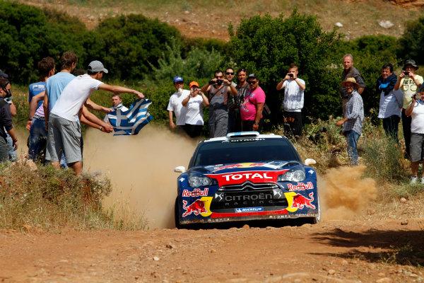 Round 06 - Rally Acropolis Greece 24-27 May 2012. Mikko Hirvonen, Citroen WRC, Action.  Worldwide Copyright: McKlein/LAT
