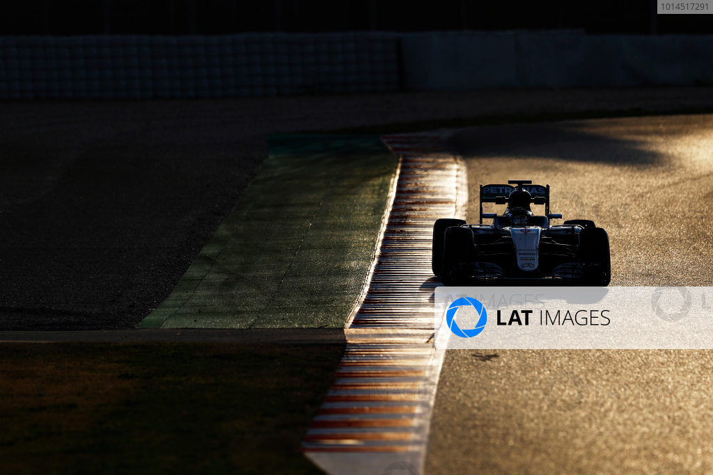 Circuit de Catalunya, Barcelona, Spain Thursday 25 February 2016. Nico Rosberg, Mercedes F1 W07 Hybrid. World Copyright: Steven Tee/LAT Photographic ref: Digital Image _H7I3906