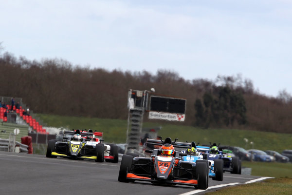 2016 BRDC British Formula 3 Championship, Snetterton, Norfolk. 27th - 28th March 2016. Matheus Leist (BRA) Double R Racing BRDC F3. World Copyright: Ebrey / LAT Photographic.