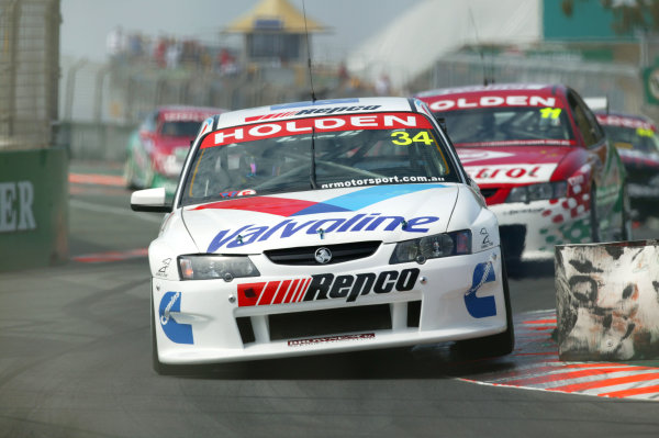 2003 Australian V8 Supercars Surfers Paradise, Australia. October 25th 2003.Garth Tander leads Steven Richards during the Gillette V8 Supercar event at the Lexmark Indy 300 at the Sufer's Paradise street circuit.World Copyright: Mark Horsburgh/LAT Photographicref: Digital Image Only