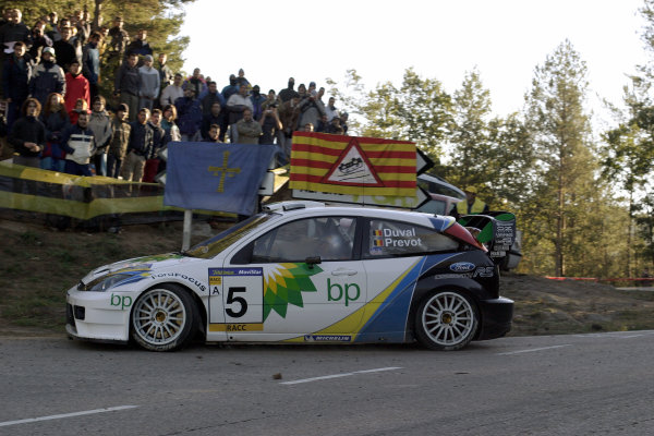 2003 FIA World Rally Champs. Round 13 Catalunya Rally 23rd-26th October 2003.Francois Duval, Ford, Action.World Copyright: McKlein/LAT