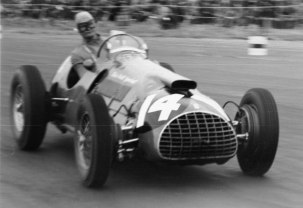 1951 British Grand Prix.Silverstone, Great Britain. 14 July 1951.Peter Whitehead (Thinwall Special Ferrari 375). Ref-51/37 #5.World Copyright - LAT Photographic