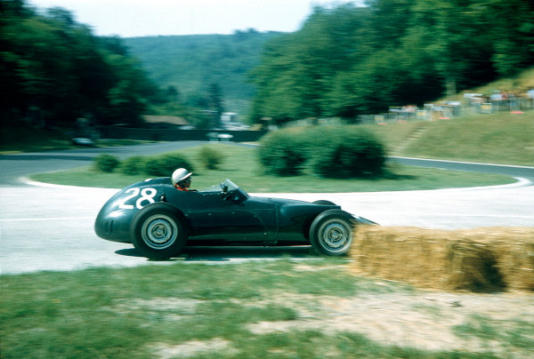1957 French Grand Prix.Rouen-Les-Essarts, France.5-7 July 1957.Herbert MacKay-Fraser (BRM P25).Ref-57 FRA 12.World Copyright - LAT Photographic