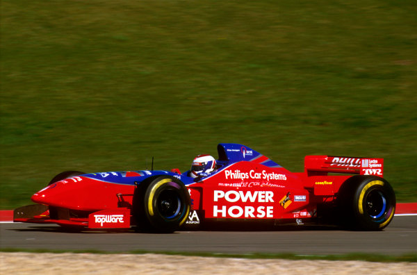 Nurburgring, Germany.26-28 April 1996.Jos Verstappen (Footwork FA17 Hart) failed to finish because of gearbox problems.Ref-96 EUR 03.World Copyright - LAT Photographic