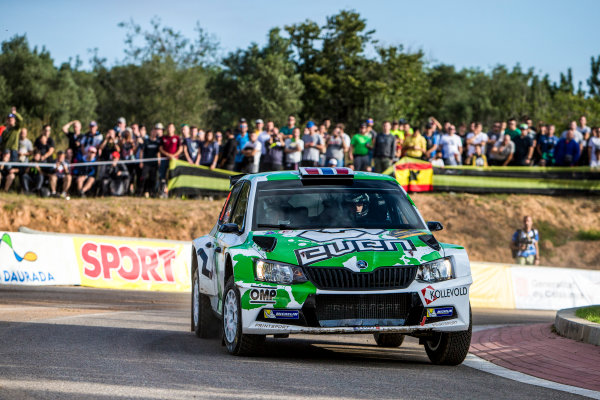 2017 FIA World Rally Championship, Round 11, Rally RACC Catalunya / Rally de España, 5-8 October, 2017, Ole Christian Veiby, Skoda, action, Worldwide Copyright: LAT/McKlein